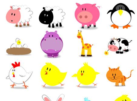 Free cute animals Icons