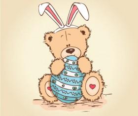 free vector Cute cartoon Little Bear 04