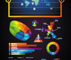 Business color Data Statements vector 02