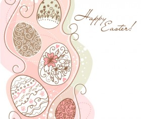 Hand painted Easter Pattern free vector 01