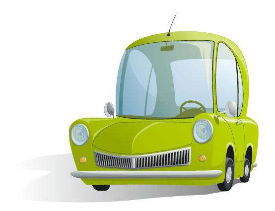 Cute cartoon car 01 free vector