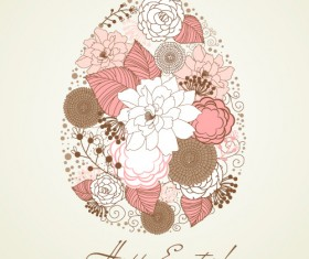 Hand painted Easter Pattern free vector 04