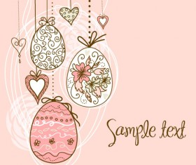 Hand painted Easter Pattern free vector 05