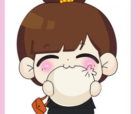 free Cute cartoon Doll vector 03