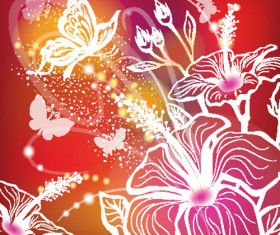 Abstract Flower free vector 02
