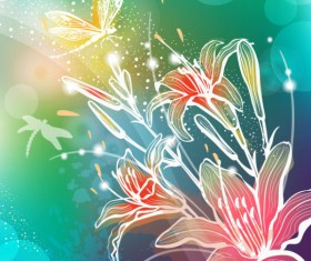 Abstract Flower free vector 03