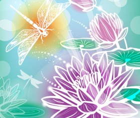 Abstract Flower free vector 04