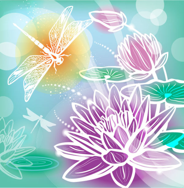 Abstract Flower Free Vector 04 Vector Abstract Vector