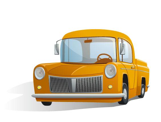 Cute cartoon car 02 free vector