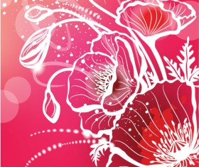 Abstract Flower free vector 06