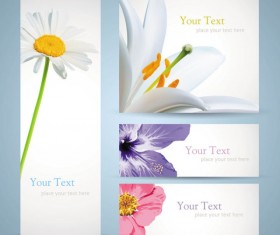 free vector with Flowers banner 01