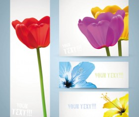 free vector with Flowers banner 02