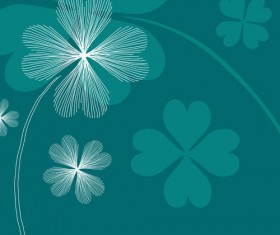 Lines of flowers background free vector 01