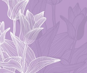 Lines of flowers background free vector 02