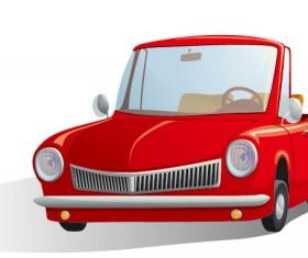 Cute cartoon car 03 free vector