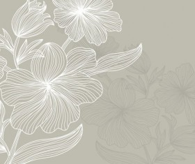 Lines of flowers background free vector 04