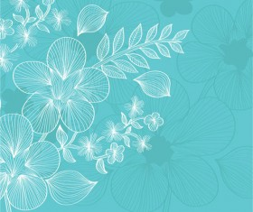 Lines of flowers background free vector 05
