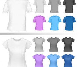 Exquisite T-shirt template free vector 03