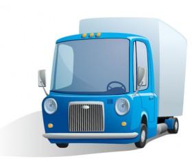 Cute cartoon car 04 free vector