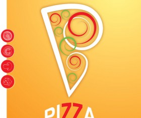 Cartoon pizza design free vector 03