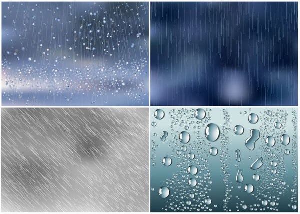 Water droplets background vector 02