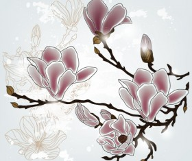 free vector Exquisite with Flowers 02