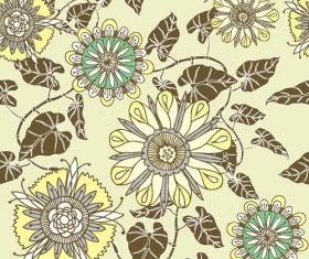 Flower vector pattern 05