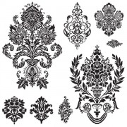Link toBlack and white decorative pattern free vector 01