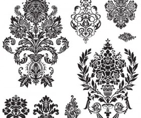 Black and white Decorative pattern free vector 01