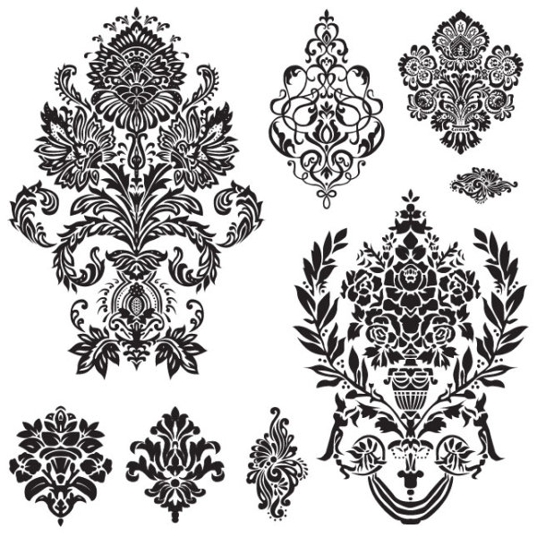 ... white Decorative pattern free vector 01 - Vector Floral free download