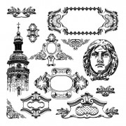 Link toBlack and white decorative pattern borders vector 03