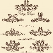 Link toEuropean style decorative pattern lacy vector 03