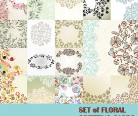 free vector with Flowers Lacy background 01
