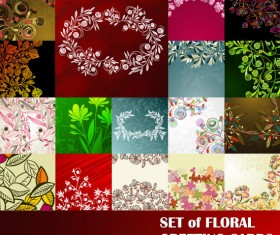 free vector with Flowers Lacy background 02