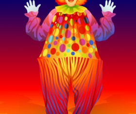 free vector cute clown Illustration 02