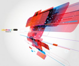 Abstract Luminous Dynamic background free vector 02