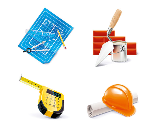 Set Vector Architectural Tools