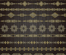 free vector Golden Lacy Pattern 03
