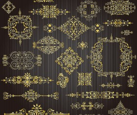 free vector Golden Lacy Pattern 04