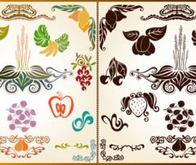 color Decorative pattern free vector 01