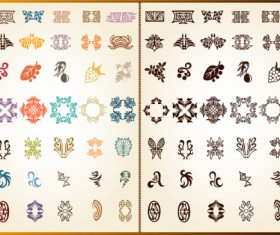 color Decorative pattern free vector 02