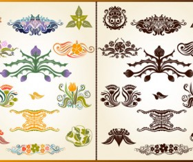 color Decorative pattern free vector 03