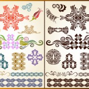 Link toColor decorative pattern free vector 04