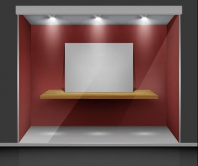 Exhibition Booth Window free vector 01