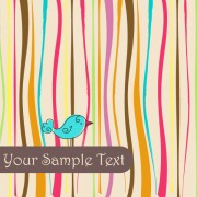 Link toCute birds background vector 02