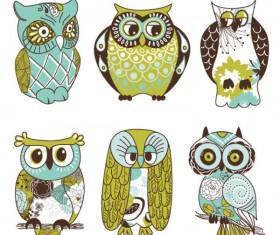Cartoon Owl Illustration free vector