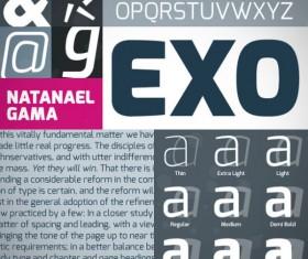 Exquisite font set 01