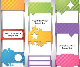 sample text template vector banner