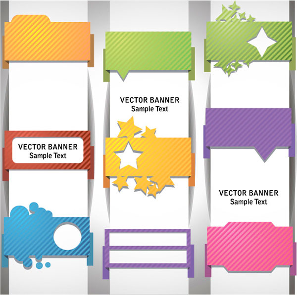 sample text template vector banner free download