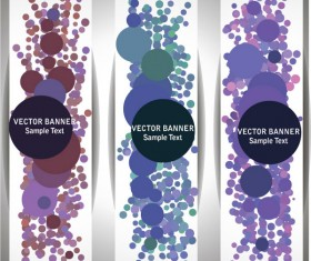 Abstract Halation vector banner 04